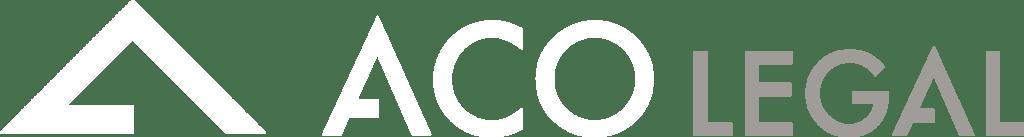 Logo ACO Legal blanc